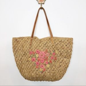 Lucky Brand • Woven Tote with Leather Handles